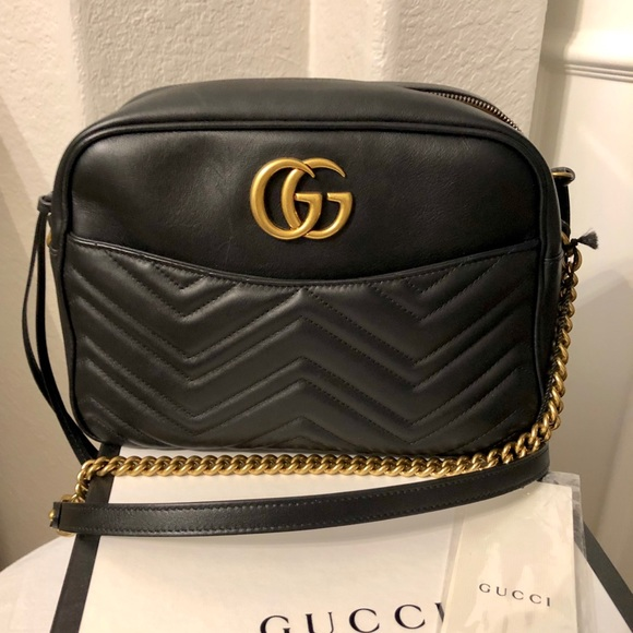 676fc402bb46 Gucci Bags | Gg Marmont Medium Matelass Shoulder Bag New | Poshmark